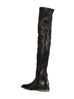 Ботфорты С Цепочной Отделкой Givenchy                                                                                                              черный цвет