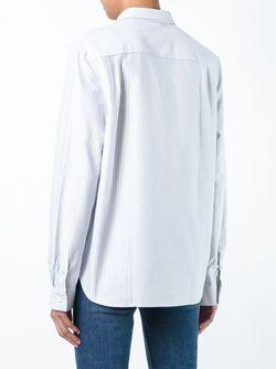 Рубашка В Полоску Maison Kitsune                                                                                                              белый цвет