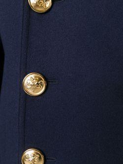 Двубортный Бушлат Saint Laurent                                                                                                              синий цвет