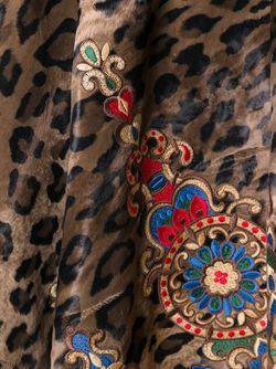 Кейп С Леопардовым Принтом ERMANNO GALLAMINI                                                                                                              коричневый цвет