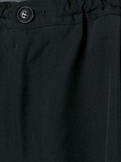 Укороченные Расклешенные Брюки Y'S                                                                                                              чёрный цвет