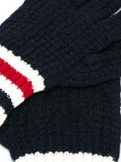 Перчатки С Полосатой Отделкой Moncler Gamme Bleu                                                                                                              синий цвет