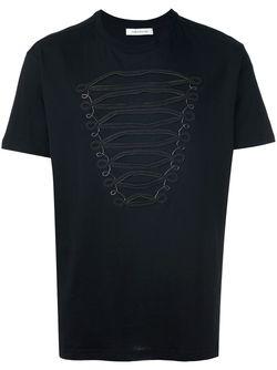 Футболка С Вышивкой Pierre Balmain                                                                                                              черный цвет