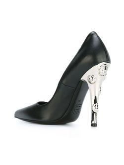 Туфли С Инкрустированными Каблуками Versus                                                                                                              черный цвет