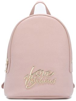 Logo Plaque Backpack Love Moschino                                                                                                              розовый цвет
