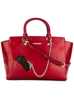 Chained Heart Detail Tote Love Moschino                                                                                                              красный цвет