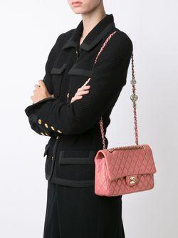 Средняя Сумка-Тоут Valentines Chanel Vintage                                                                                                              черный цвет