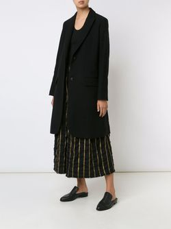 Striped Back Mid Coat UMA WANG                                                                                                              чёрный цвет