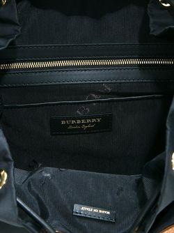Рюкзак С Пряжками Burberry                                                                                                              черный цвет