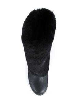 Ботинки С Отделкой Из Искусственного Меха Casadei                                                                                                              черный цвет