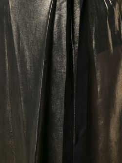 Брюки-Палаццо С Эффектом Металлик Ann Demeulemeester                                                                                                              серебристый цвет