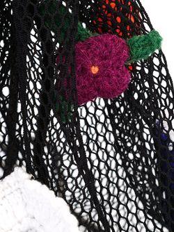 Crochet Flower Mesh Backpack Christopher Kane                                                                                                              черный цвет