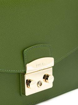 Сумка С Ремнем На Цепочке Furla                                                                                                              зелёный цвет