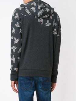 Кардиган На Молнии С Принтом Логотипа Vivienne Westwood Anglomania                                                                                                              черный цвет