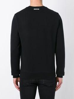 Geometric Embroidery Sweatshirt Les Hommes                                                                                                              черный цвет