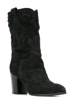 Ботинки До Середины Голени Casadei                                                                                                              черный цвет