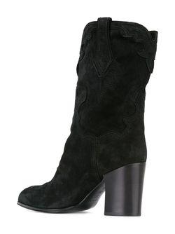 Ботинки До Середины Голени Casadei                                                                                                              чёрный цвет
