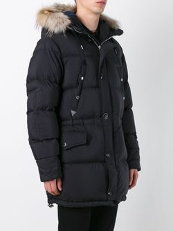 Zipped Parka Coat Burberry                                                                                                              чёрный цвет