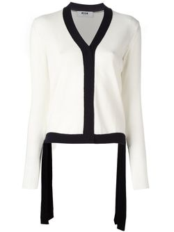 Monochrome Knit Cardigan MSGM                                                                                                              белый цвет