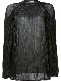 Свободный Плиссированный Топ ROSETTA GETTY                                                                                                              чёрный цвет