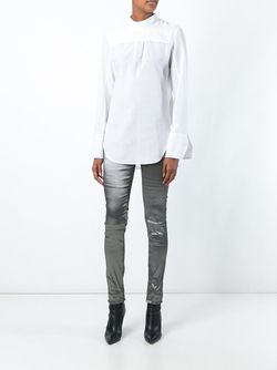Front Pleat Blouse Ann Demeulemeester                                                                                                              белый цвет
