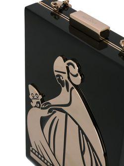 Вертикальная Сумка Через Плечо С Логотипом Lanvin                                                                                                              чёрный цвет