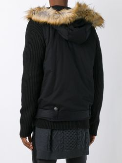 Layered Hooded Cardigan Pierre Balmain                                                                                                              черный цвет