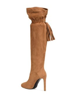 Elasticated Fringed Detailing Boots Roberto Cavalli                                                                                                              коричневый цвет