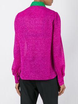 Рубашка С Контрастным Воротником Delpozo                                                                                                              розовый цвет