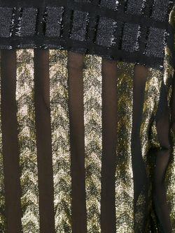 Полупрозрачная Блузка С Глубоким Вырезом DODO BAR OR                                                                                                              чёрный цвет