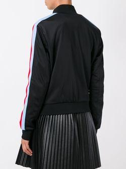 Куртка-Бомбер С Логотипом MSGM                                                                                                              черный цвет