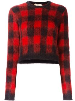 Checked Cropped Jumper No21                                                                                                              красный цвет