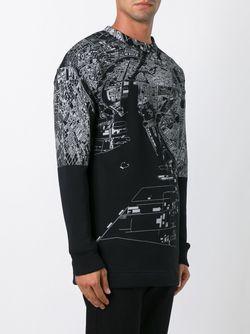 Толстовка С Принтом Карты Jil Sander                                                                                                              чёрный цвет