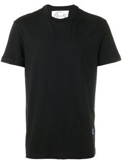 Футболка С Вышитым Логотипом Raf Simons                                                                                                              чёрный цвет