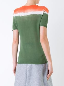 Tri-Tone Shortsleeved Knit T-Shirt Roberto Collina                                                                                                              зелёный цвет