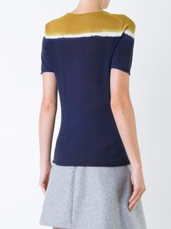 Tri-Tone Shortsleeved Knit T-Shirt Roberto Collina                                                                                                              синий цвет