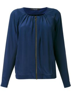 Blouse Zipped Jacket Roberto Collina                                                                                                              синий цвет