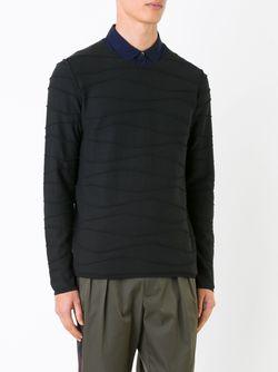 Толстовка Horizontal Seam Roberto Collina                                                                                                              черный цвет