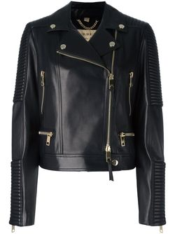 Байкерская Куртка На Молнии Burberry                                                                                                              черный цвет