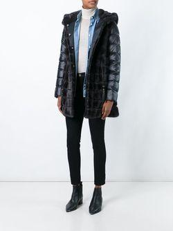 Mink Fur Hooded Puffer Coat Liska                                                                                                              чёрный цвет