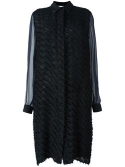 Полосатое Платье-Рубашка Marco De Vincenzo                                                                                                              чёрный цвет