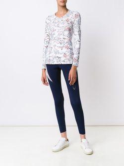 Floral Print Fine Knit Sweatshirt Lucas Hugh                                                                                                              белый цвет