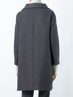 Zip-Up Mid-Length Coat Herno                                                                                                              серый цвет