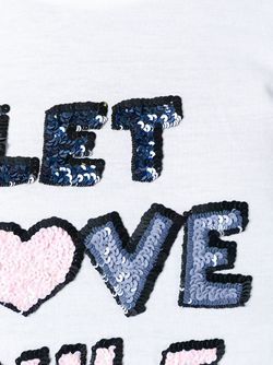 Sequined Quote T-Shirt Markus Lupfer                                                                                                              белый цвет