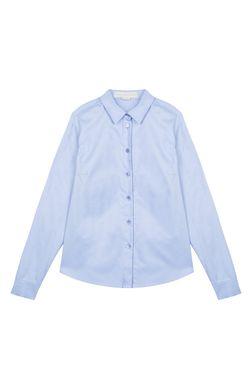 Хлопковая Рубашка Stella Mccartney                                                                                                              голубой цвет