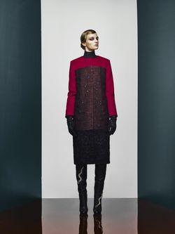 Шерстяное Пальто A La Russe                                                                                                              красный цвет