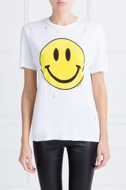 Топ С Принтом Smile Filles A Papa                                                                                                              желтый цвет