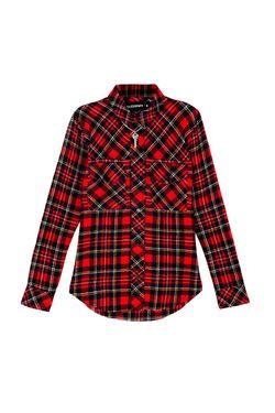 Шерстяная Рубашка Toxic Filles A Papa                                                                                                              красный цвет