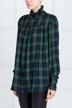 Хлопковая Блузка Kobina Essentiel                                                                                                              зелёный цвет