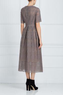Хлопковое Платье Alena Akhmadullina                                                                                                              коричневый цвет